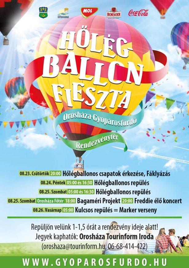 Hőlégballon fieszta Gyopárosfürdőn @ Gyopárosfürdő | Orosháza | Magyarország
