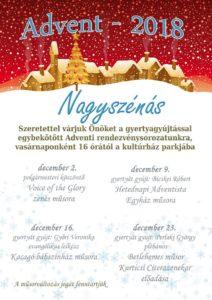 Advent 2018. @ Nagyszénási Kulturális Központ | Nagyszénás | Magyarország