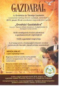 Orosházi Gazdabál @ Táncsics Mihály Gimnázium Tornacsarnoka | Orosháza | Magyarország