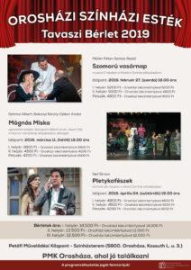Orosházi Színházi Esték – Szomorú Vasárnap @ Petőfi Művelődési Központ | Orosháza | Magyarország