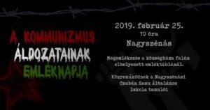 A kommunizmus áldozatainak emléknapja @ Polgármesteri Hivatal | Nagyszénás | Magyarország