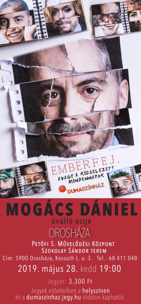 Dumaszínház: Mogács Dániel önálló estje @ Petőfi Művelődési Központ | Orosháza | Magyarország