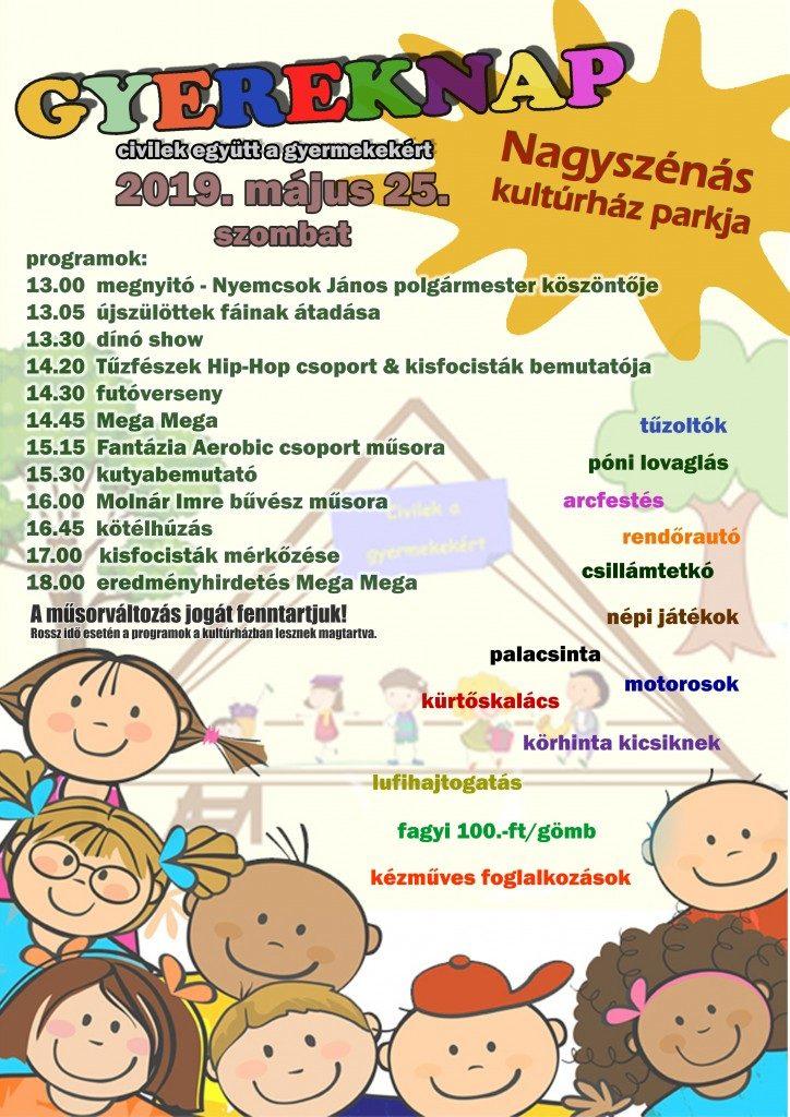 Civilek a gyerekekért @ Nagyszénási Kulturális Központ parkja | Nagyszénás | Magyarország